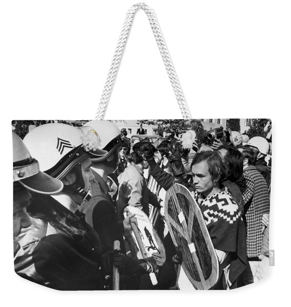 Sixties Protest Face Off Weekender Tote Bag