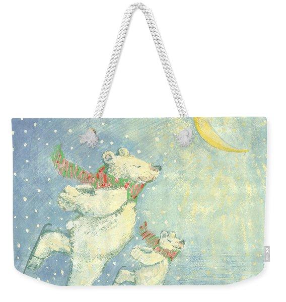 Skating Polar Bears Weekender Tote Bag