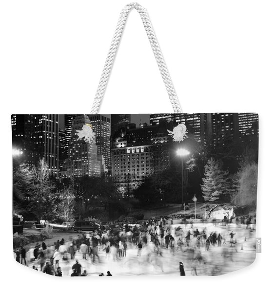 New York City - Skating Rink - Monochrome Weekender Tote Bag