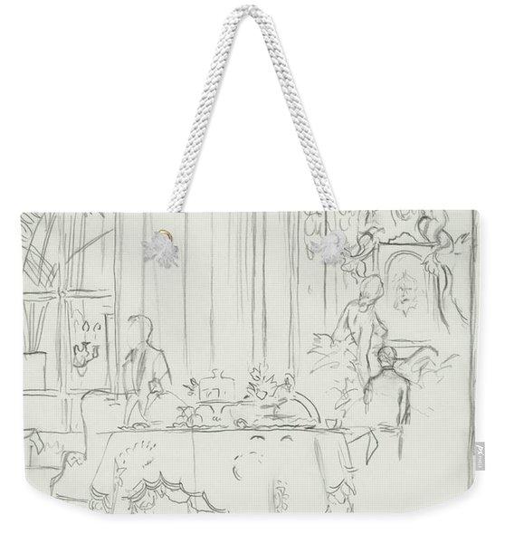 Sketch Of A Formal Dining Room Weekender Tote Bag