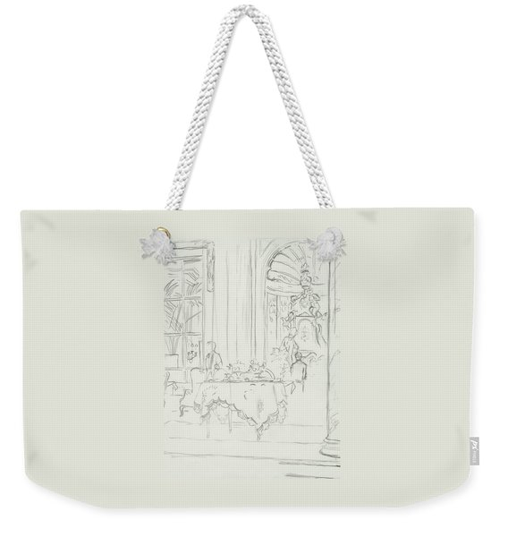 Sketch Of A Formal Dining Room Weekender Tote Bag