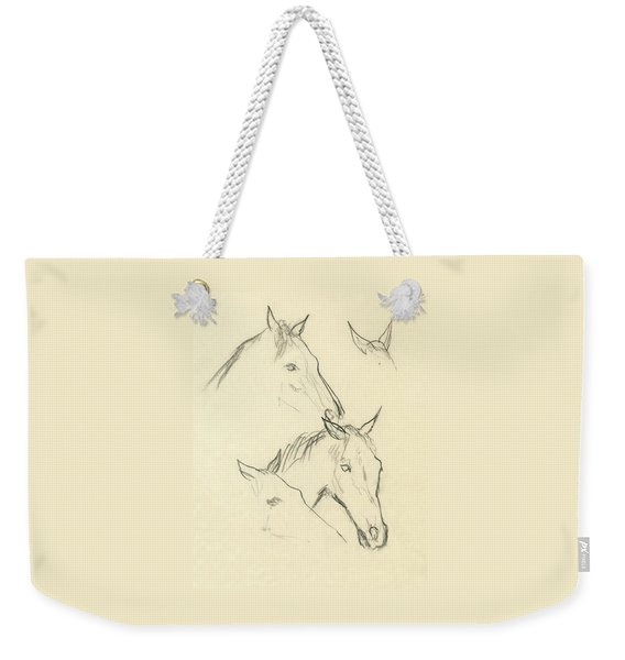 Sketch Of A Horse Head Weekender Tote Bag