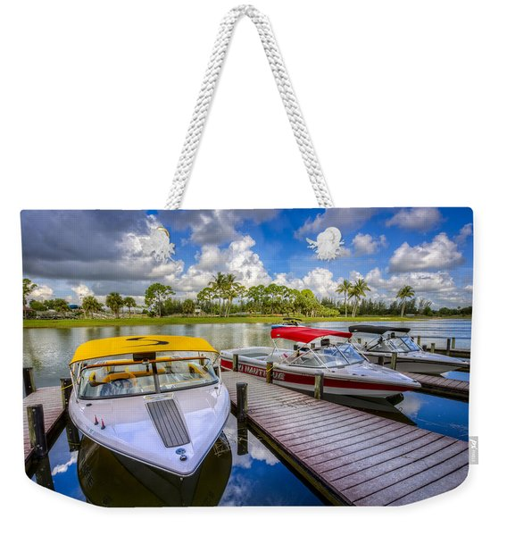 Ski Nautique Boats Weekender Tote Bag