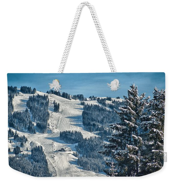 Ski Run Weekender Tote Bag