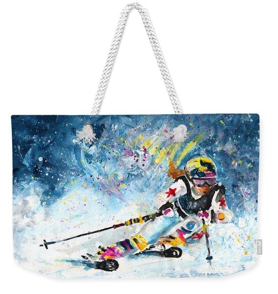 Skiing 03 Weekender Tote Bag