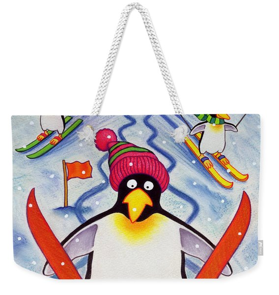 Skiing Holiday Weekender Tote Bag