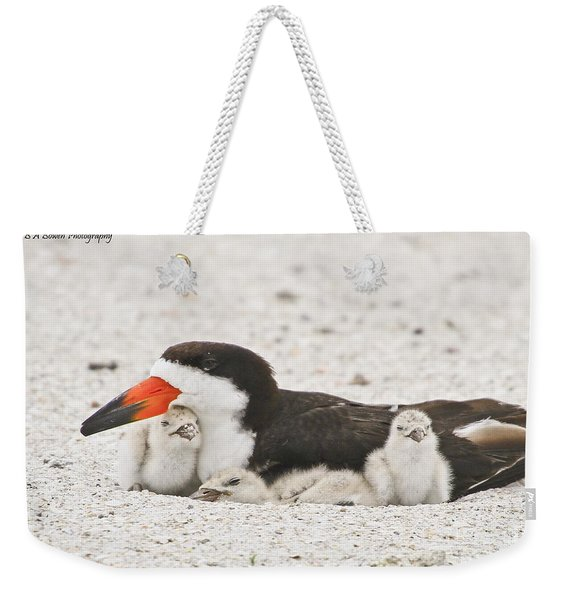 Skimmer Family Cuddle Weekender Tote Bag