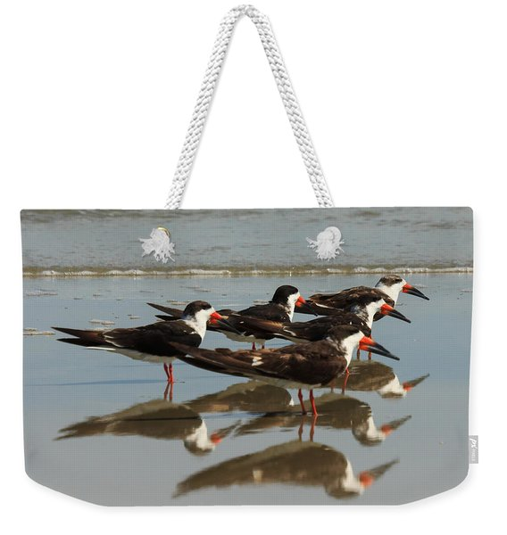 Skimmers With Reflection Weekender Tote Bag