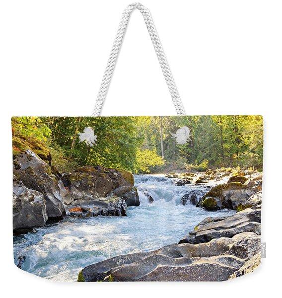 Skutz Falls At Cowichan River Provincial Park Weekender Tote Bag