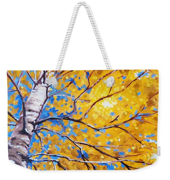 Sky Birch Weekender Tote Bag
