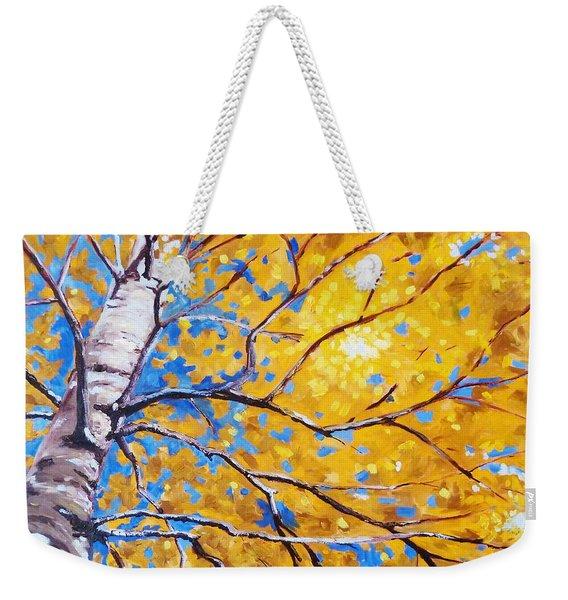 Sky Birch Weekender Tote Bag