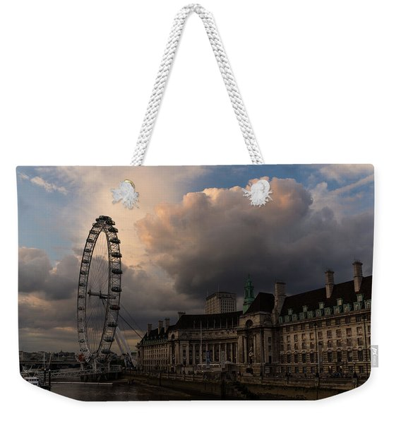Sky Drama Around The London Eye Weekender Tote Bag
