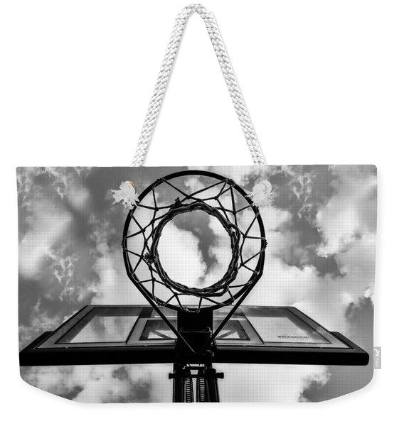 Sky Hoop Basketball Time Weekender Tote Bag