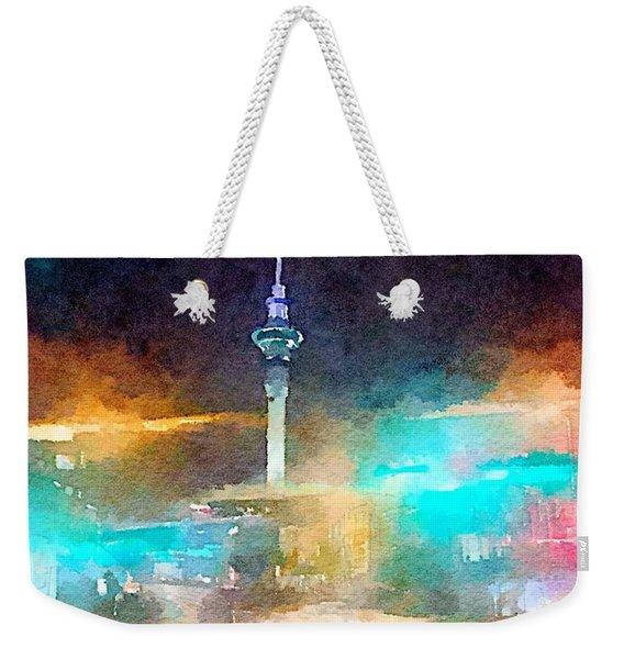 Sky Tower By Night Weekender Tote Bag