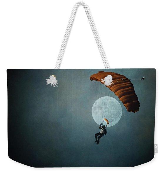 Skydiver's Moon Weekender Tote Bag