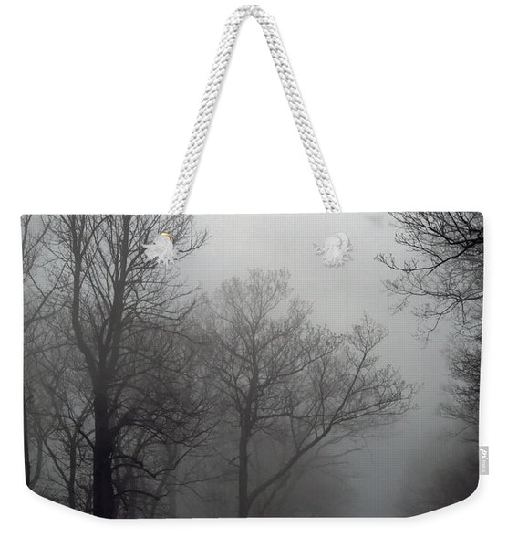 Skyline Drive In Fog Weekender Tote Bag