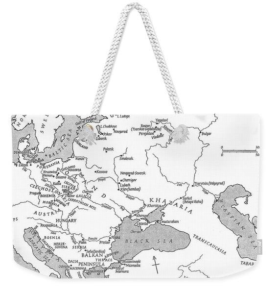 Slavic Population Map Weekender Tote Bag
