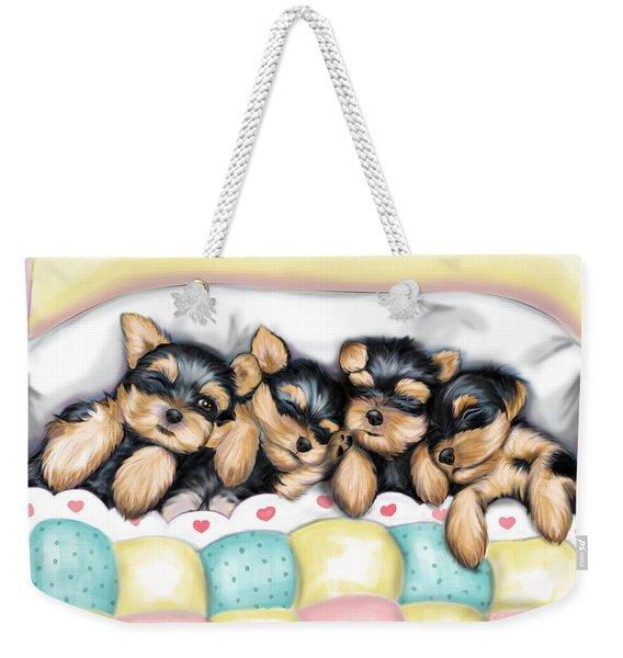 Sleeping Babies Weekender Tote Bag