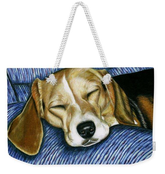 Sleeping Beagle Weekender Tote Bag