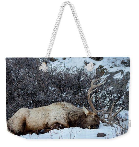 Sleeping Elk Weekender Tote Bag