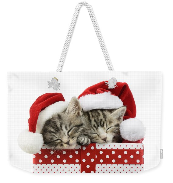 Sleeping Kittens In Presents Weekender Tote Bag