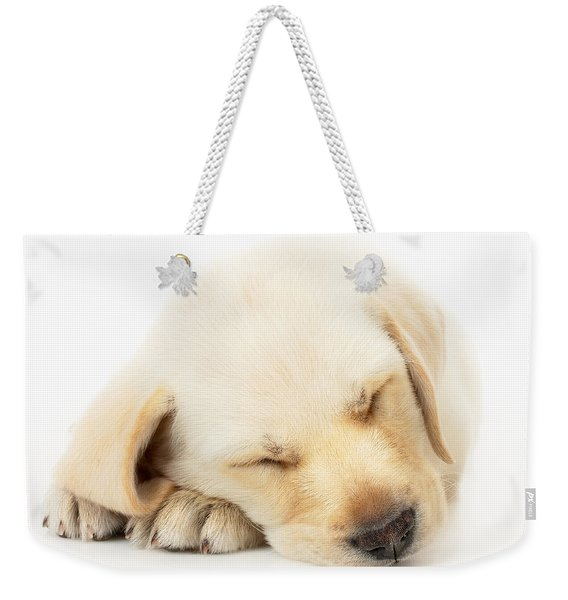 Sleeping Labrador Puppy Weekender Tote Bag