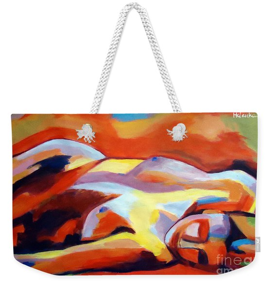Sleeping Lady Weekender Tote Bag