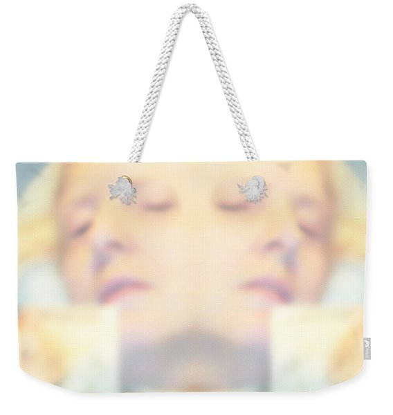 Weekender Tote Bag featuring the photograph Sleeping Woman Drifting In Dreams by Marian Cates