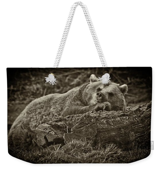 Sleepy Bear Weekender Tote Bag