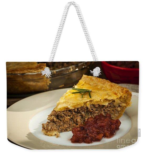 Slice Of Meat Pie Tourtiere Weekender Tote Bag
