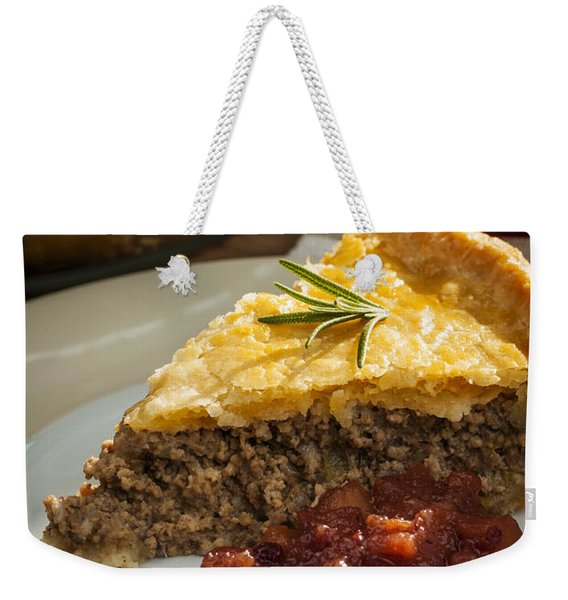 Slice Of Tourtiere Meat Pie  Weekender Tote Bag