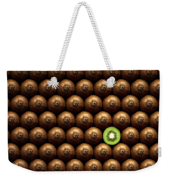 Sliced Kiwi Between Group Weekender Tote Bag