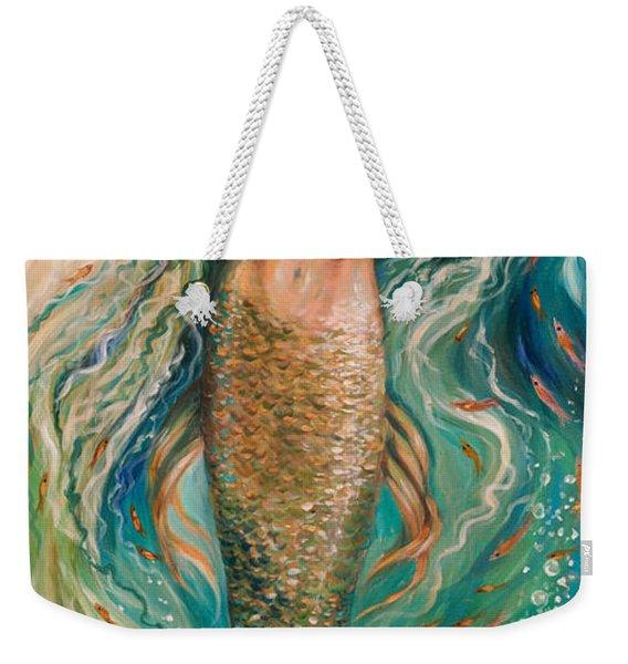 Slumbering Mermaid Weekender Tote Bag