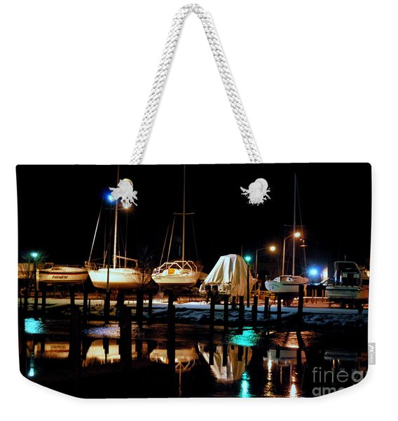 Small Boat Harbor Alpena Michigan Weekender Tote Bag