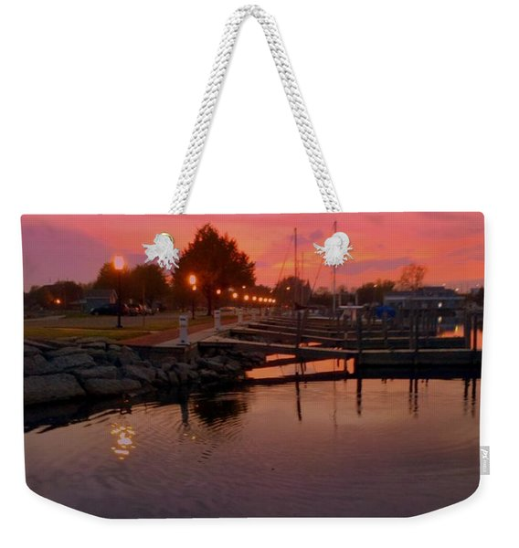 Small Boat Harbor Weekender Tote Bag
