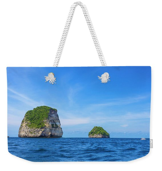 Small Stone Island Near Nusa Penida Weekender Tote Bag