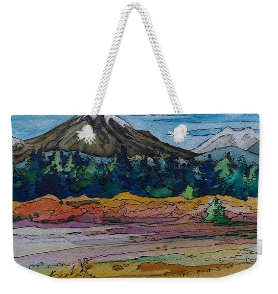 Small Sunriver Scene Weekender Tote Bag