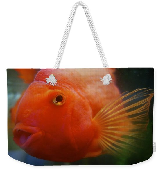Smiling Gold Fish Weekender Tote Bag
