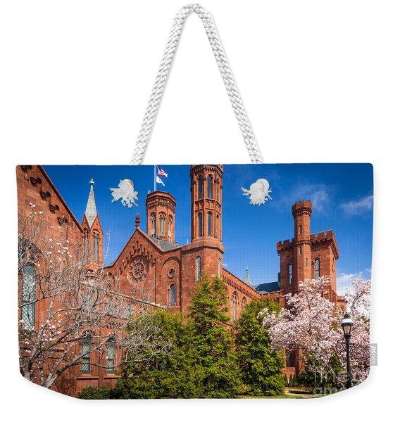 Smithsonian Castle Wall Weekender Tote Bag