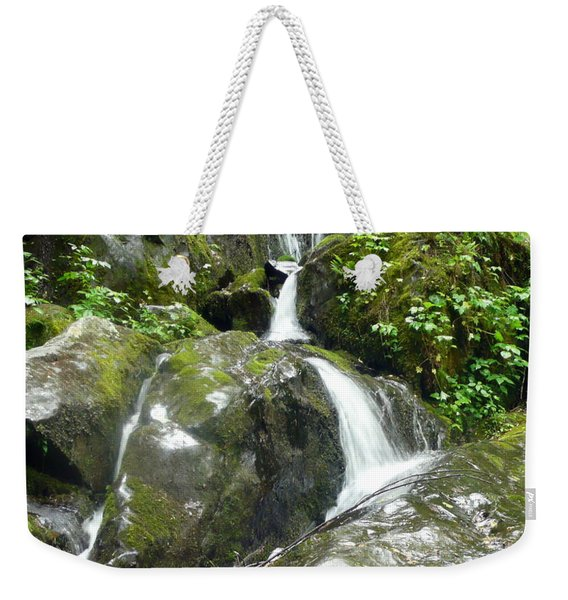Smokey Mountainside Waterfall Weekender Tote Bag