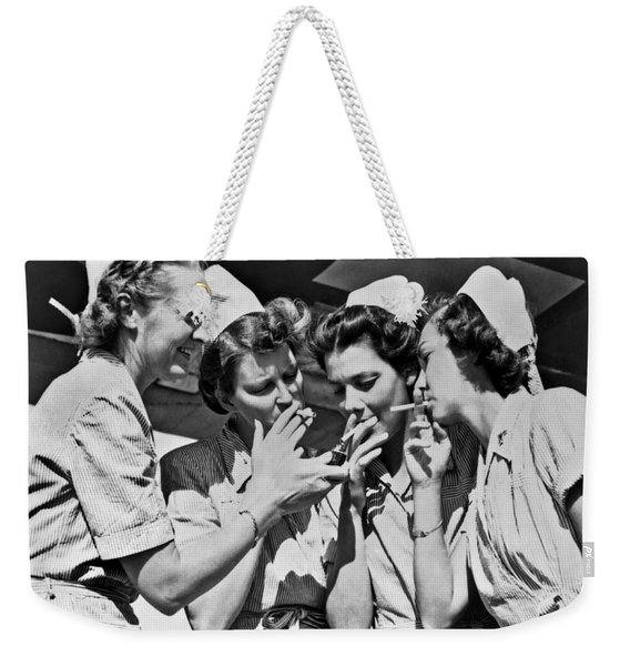 Smoking Army Nurses Weekender Tote Bag