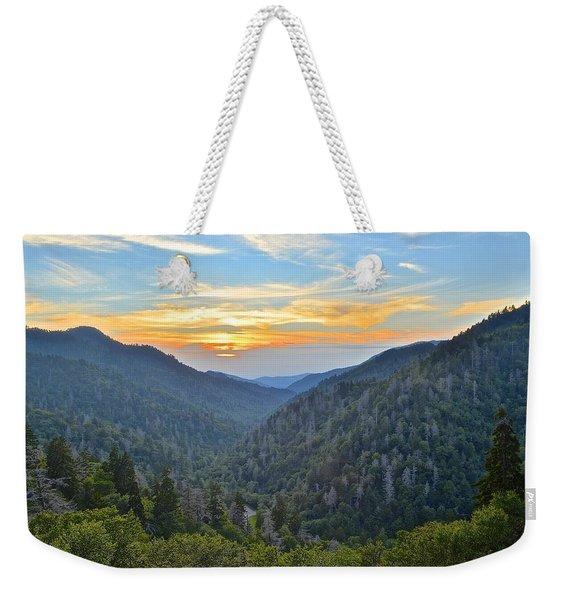 Smoky Mountain Vacation Weekender Tote Bag