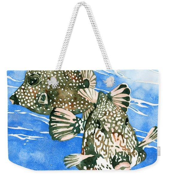 Smooth Trunkfish Pair Weekender Tote Bag