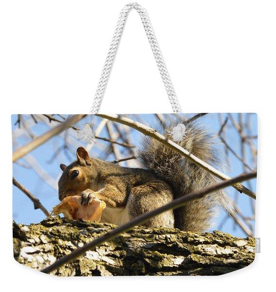 Snacking Squirrel Weekender Tote Bag