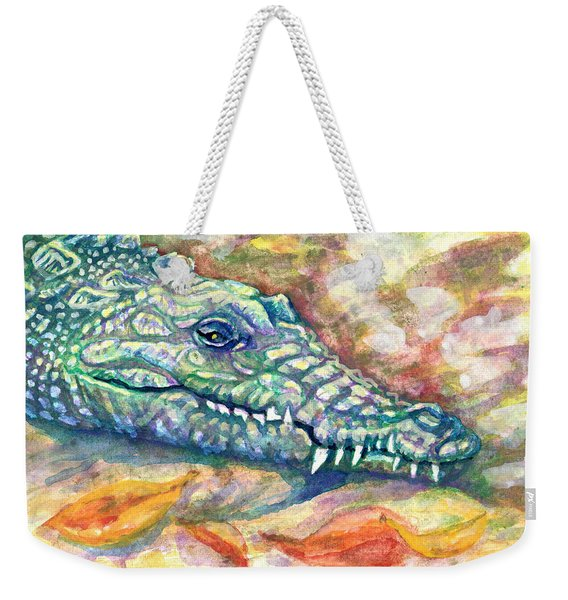 Weekender Tote Bag featuring the painting Snaggletooth by Ashley Kujan