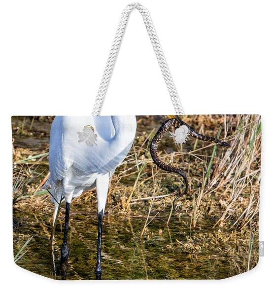 Snake For Lunch Weekender Tote Bag