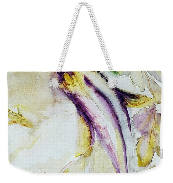 Weekender Tote Bag featuring the painting Snapper And Skate by Ashley Kujan