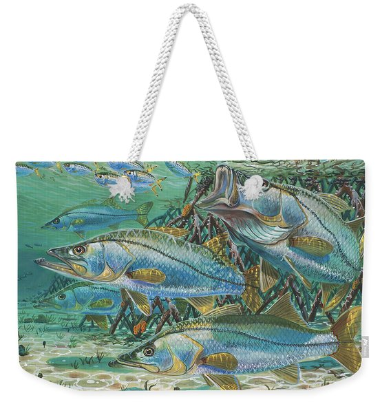 Snook Attack In0014 Weekender Tote Bag