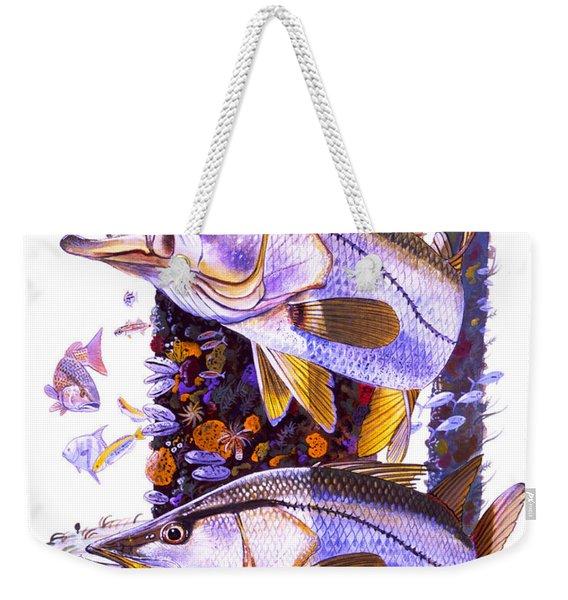 Snook Piling Weekender Tote Bag