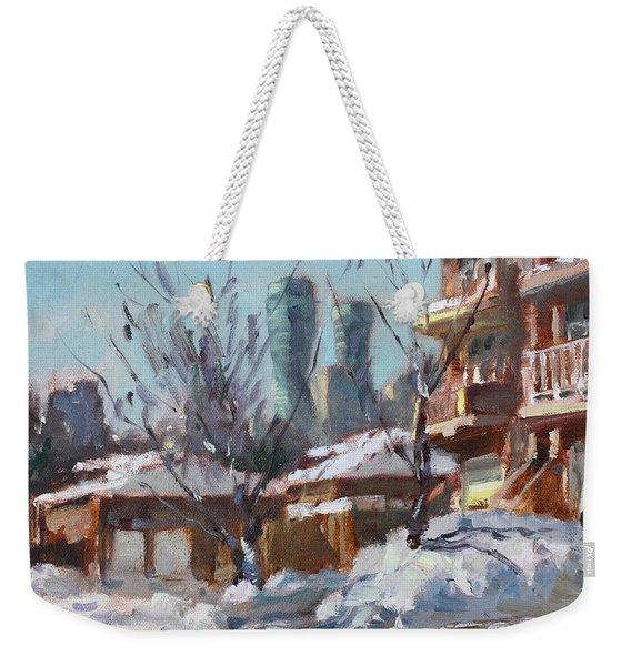Snow And Sun Weekender Tote Bag